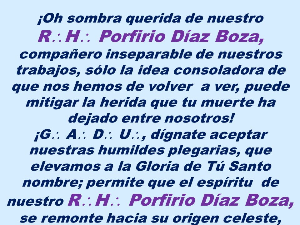 RH Porfirio Díaz Boza,