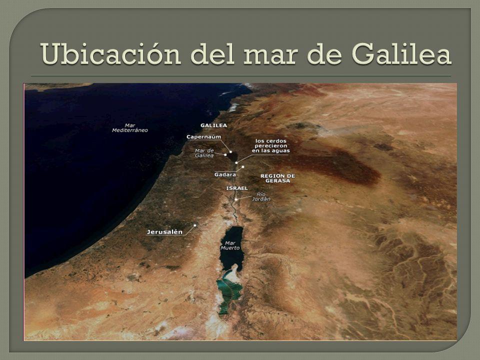 Ubicación del mar de Galilea