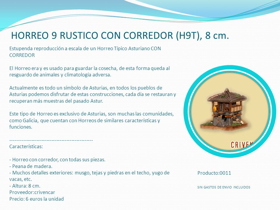 HORREO 9 RUSTICO CON CORREDOR (H9T), 8 cm.