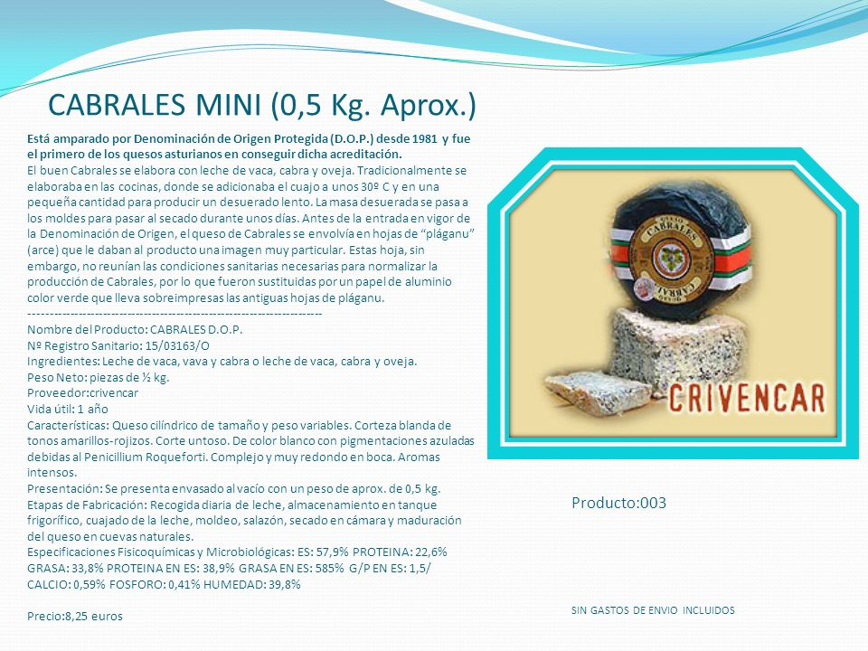 CABRALES MINI (0,5 Kg. Aprox.)