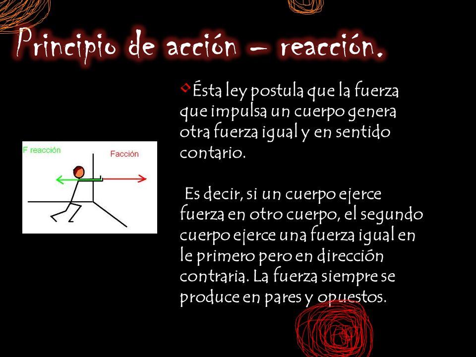 Principio de acción – reacción.