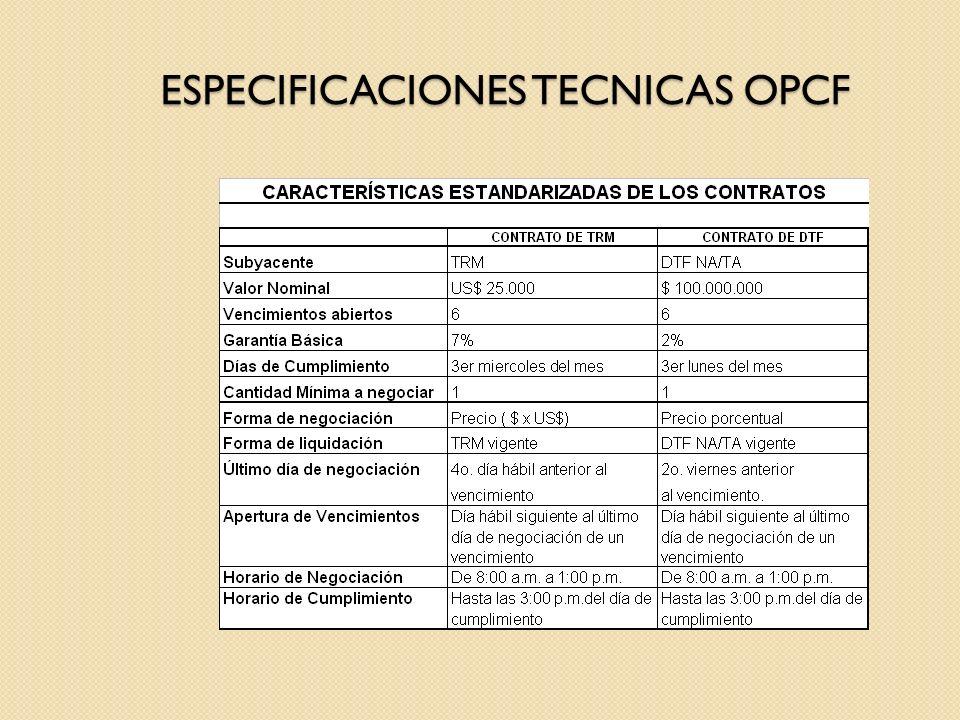 ESPECIFICACIONES TECNICAS OPCF