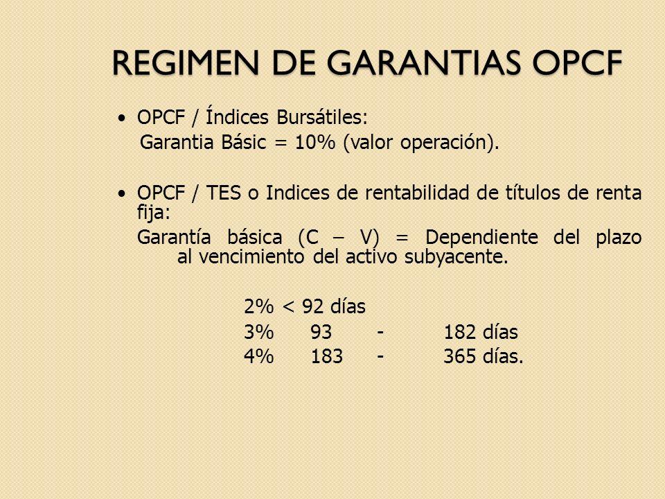 REGIMEN DE GARANTIAS OPCF