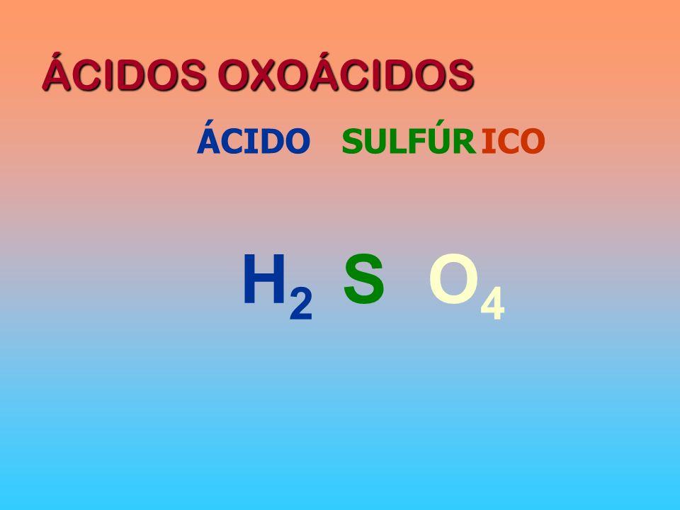 ÁCIDOS OXOÁCIDOS ÁCIDO SULFÚR ICO H2 S O4