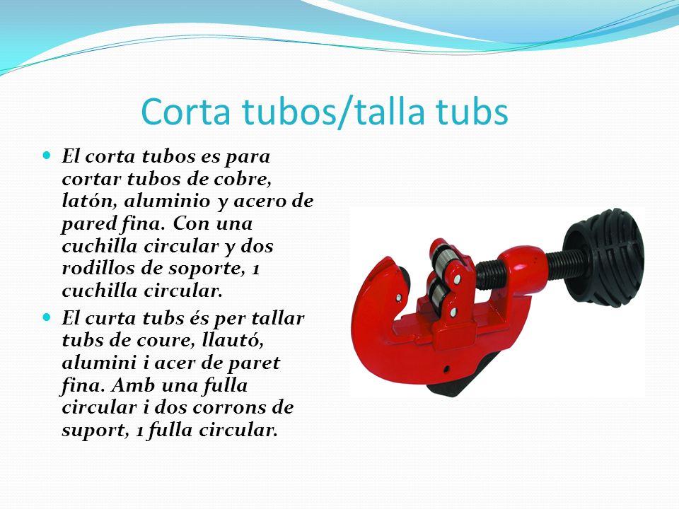 Corta tubos/talla tubs