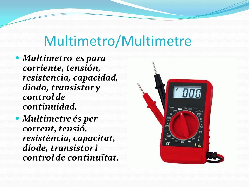 Multimetro/Multimetre