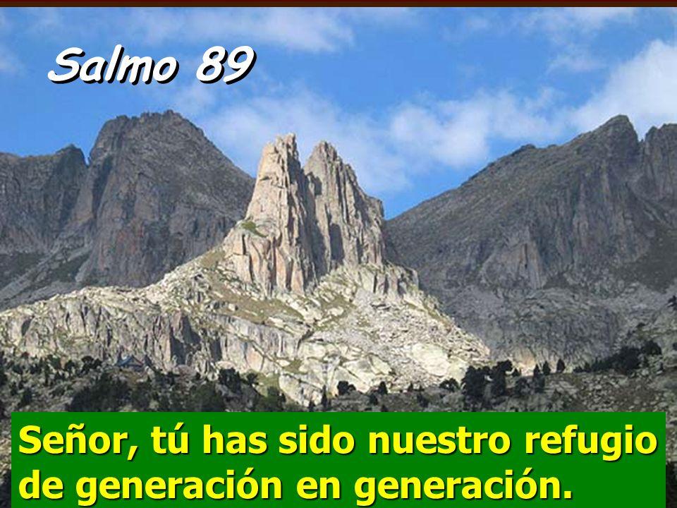 Salmo 89 Señor, tú has sido nuestro refugio de generación en generación.