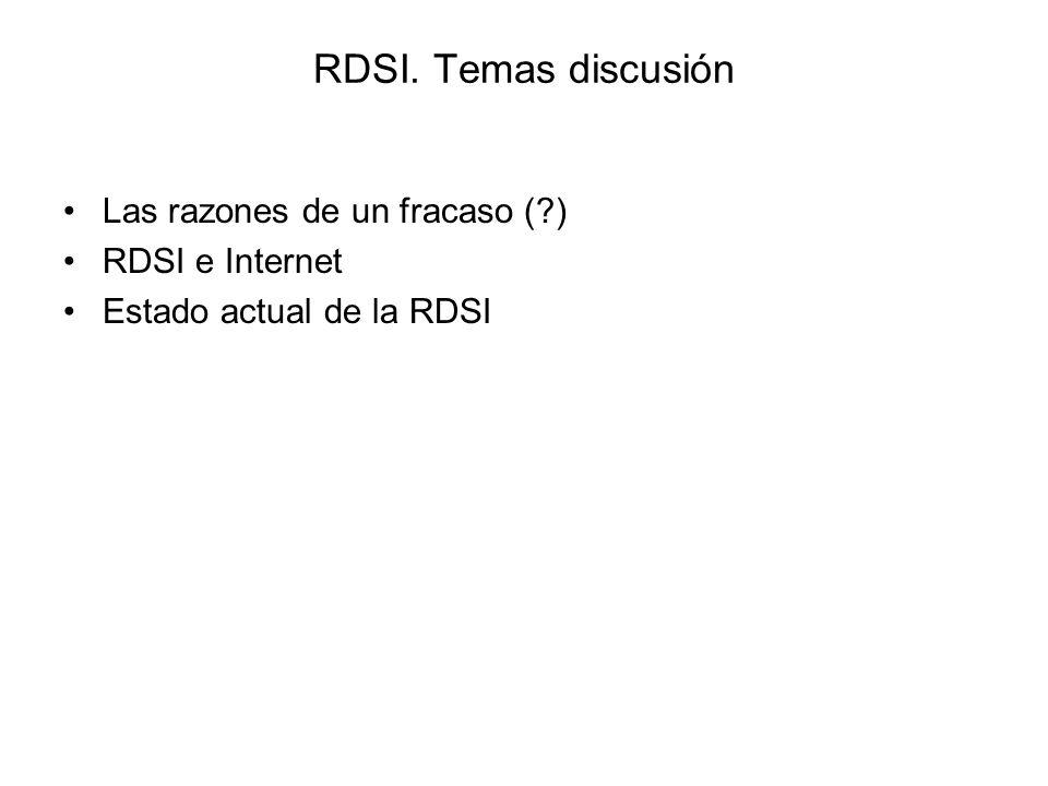 RDSI. Temas discusión Las razones de un fracaso ( ) RDSI e Internet