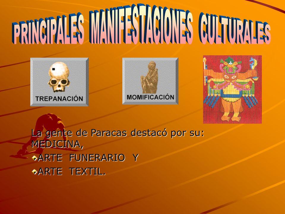PRINCIPALES MANIFESTACIONES CULTURALES