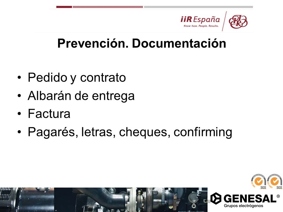 Prevención. Documentación