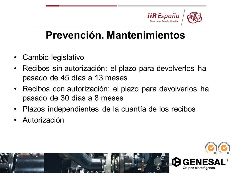 Prevención. Mantenimientos