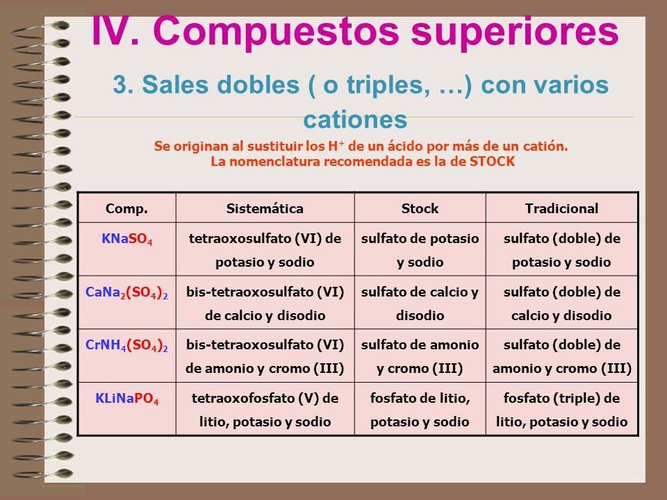 IV. Compuestos superiores 3