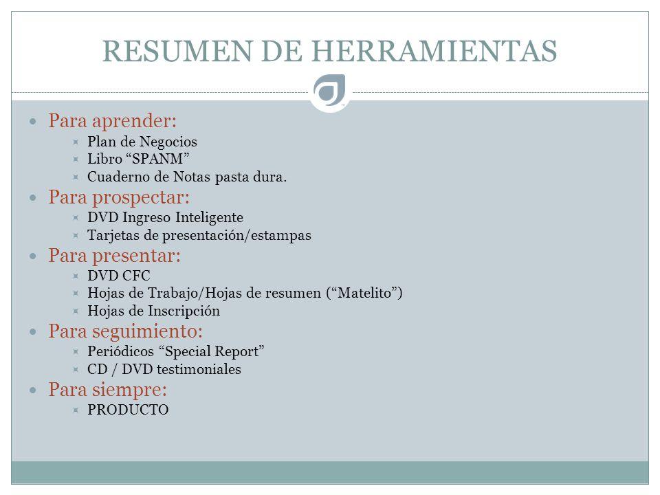 RESUMEN DE HERRAMIENTAS