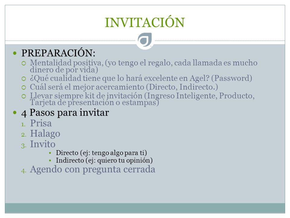 INVITACIÓN PREPARACIÓN: 4 Pasos para invitar Prisa Halago Invito