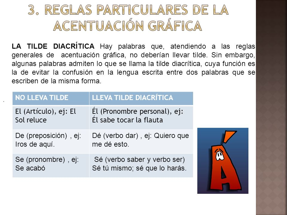 3. REGLAS PARTICULARES DE LA ACENTUACIÓN GRÁFICA