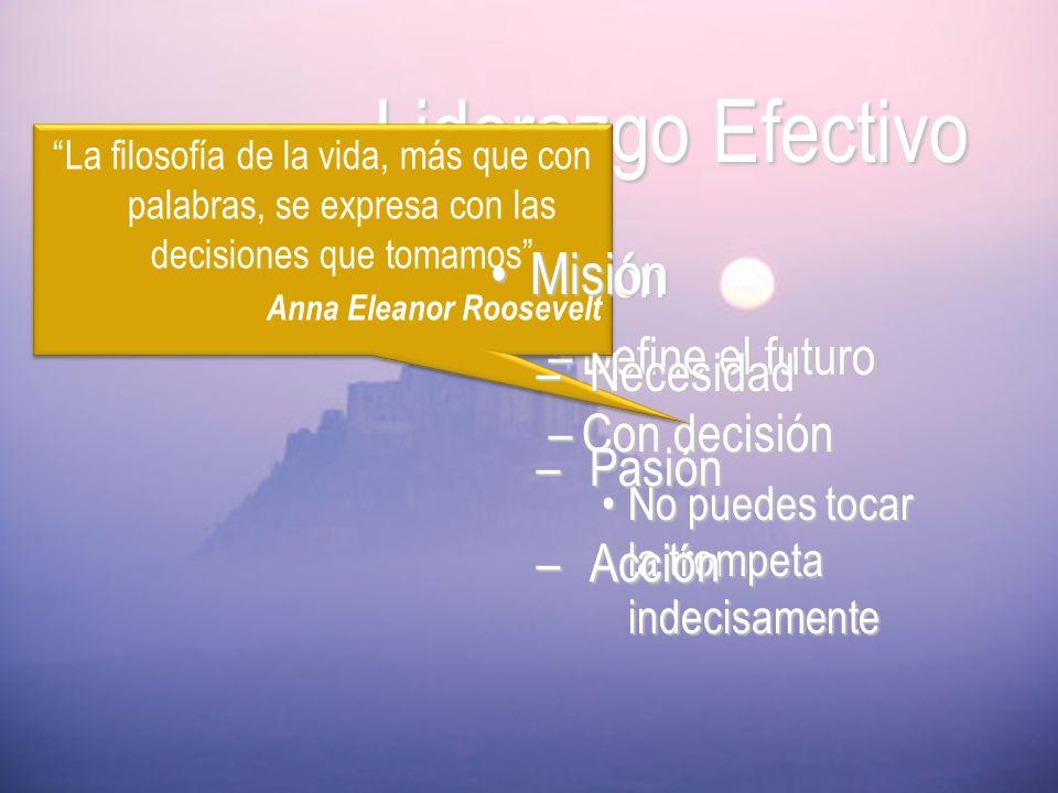 Liderazgo Efectivo Misión Visión Define el futuro Necesidad