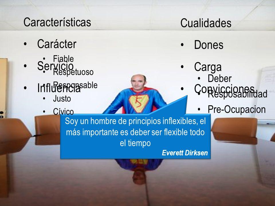 Características Características Cualidades Carácter Dones Servicio