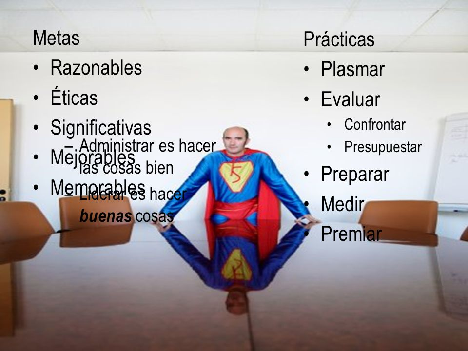 Características Metas Prácticas Razonables Plasmar Éticas Evaluar