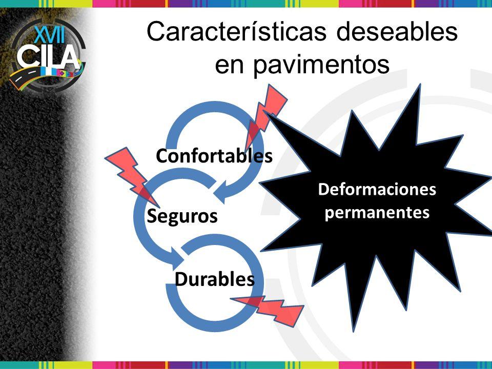 Características deseables en pavimentos