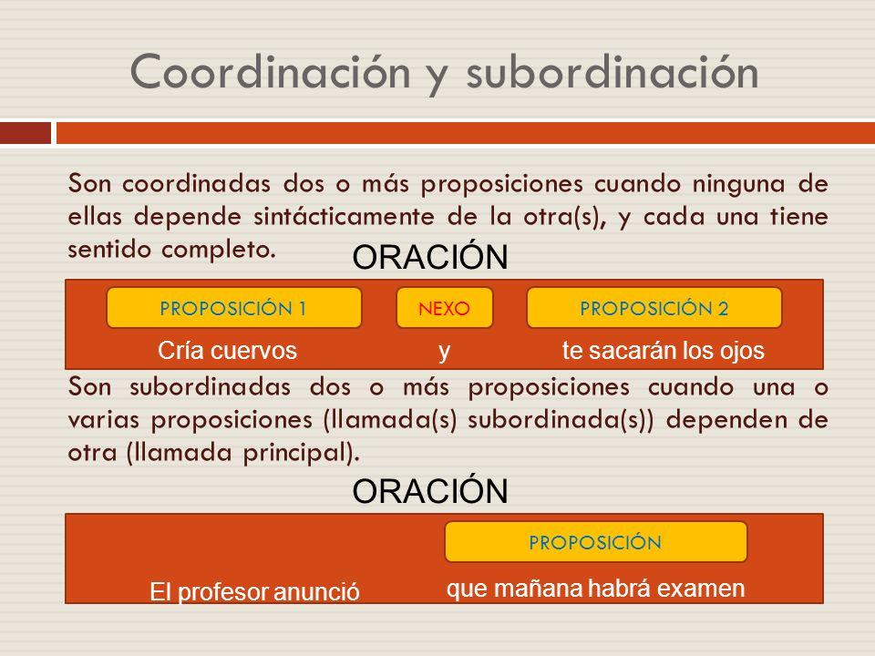 Coordinación y subordinación