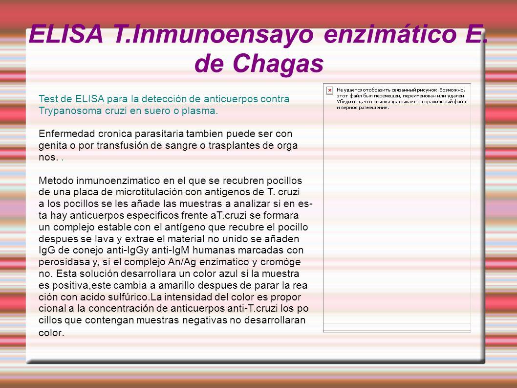 ELISA T.Inmunoensayo enzimático E. de Chagas