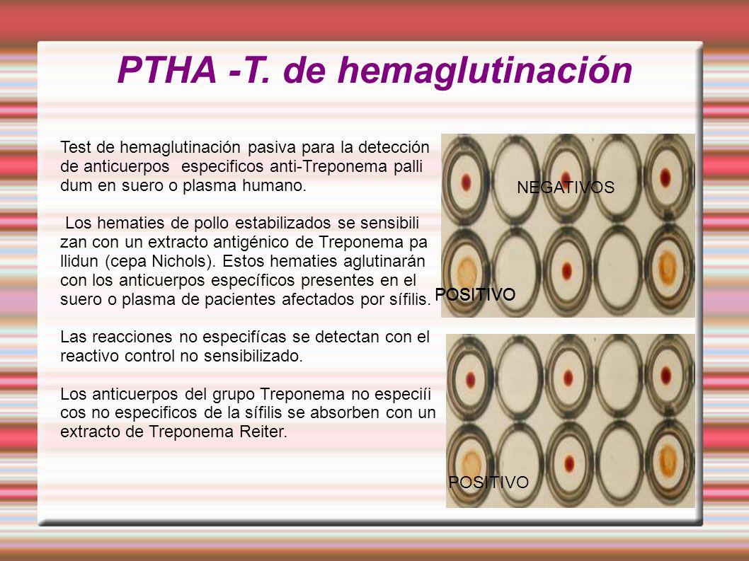 PTHA -T. de hemaglutinación