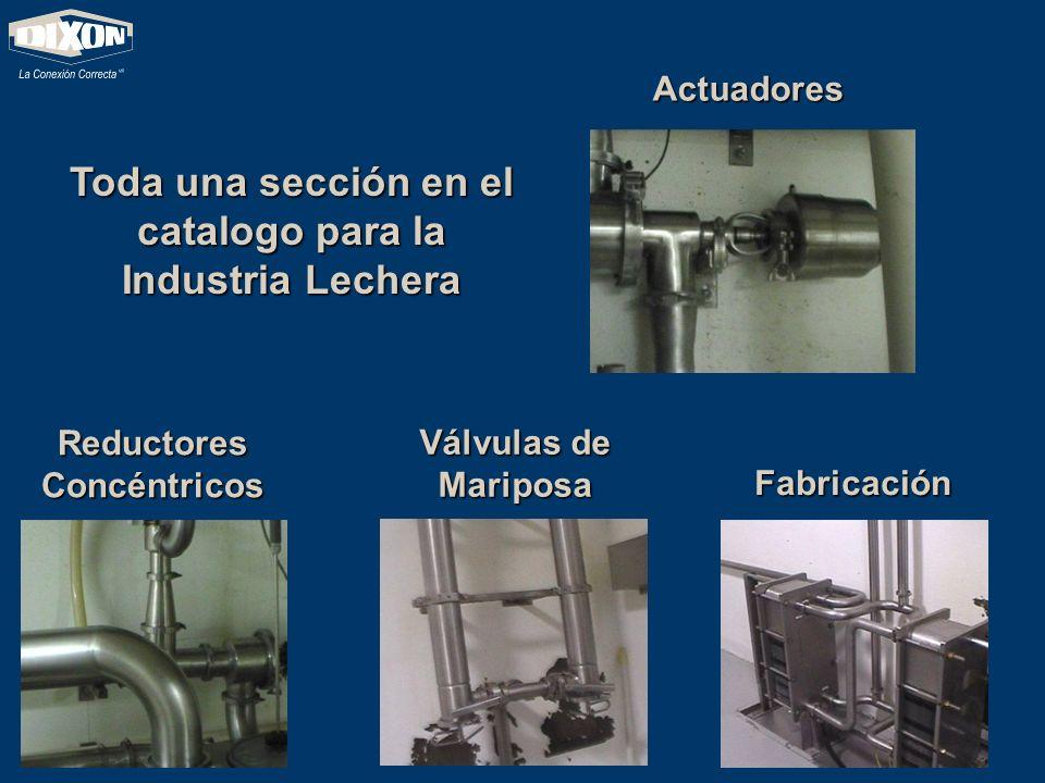 Toda una sección en el catalogo para la Industria Lechera