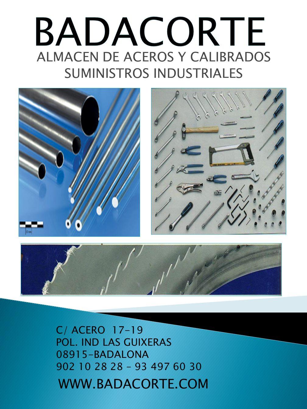 ALMACEN DE ACEROS Y CALIBRADOS SUMINISTROS INDUSTRIALES