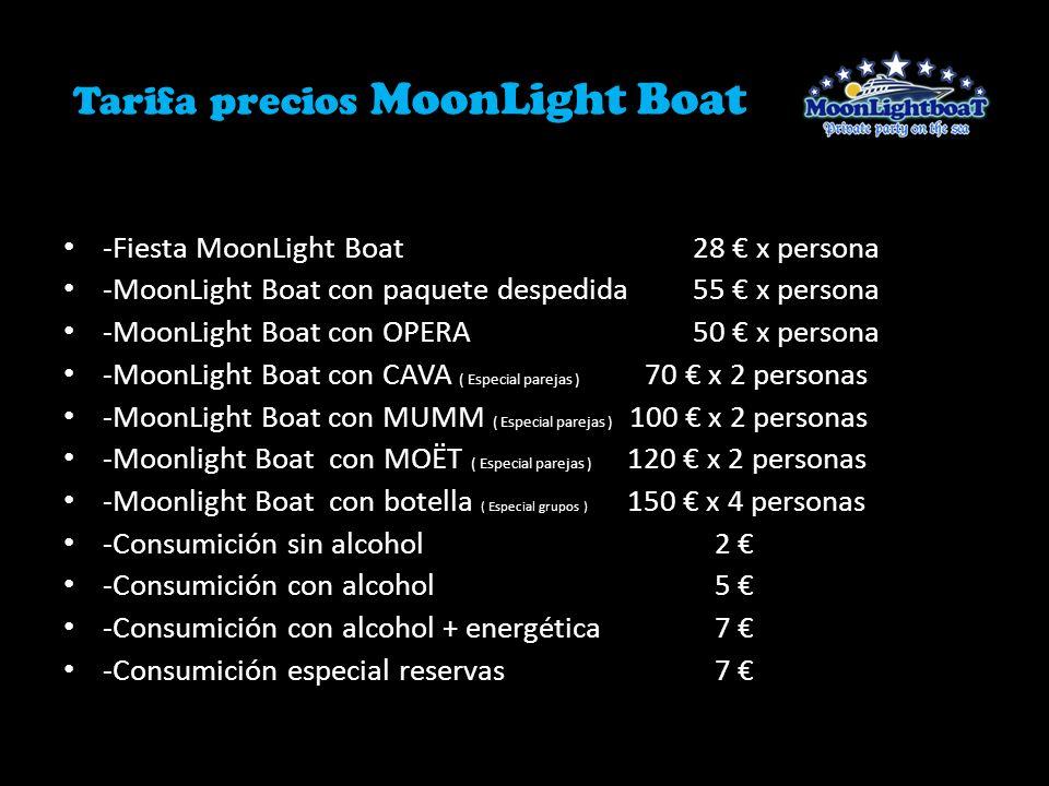 Tarifa precios MoonLight Boat