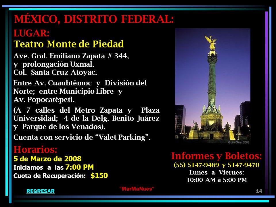 MÉXICO, DISTRITO FEDERAL: