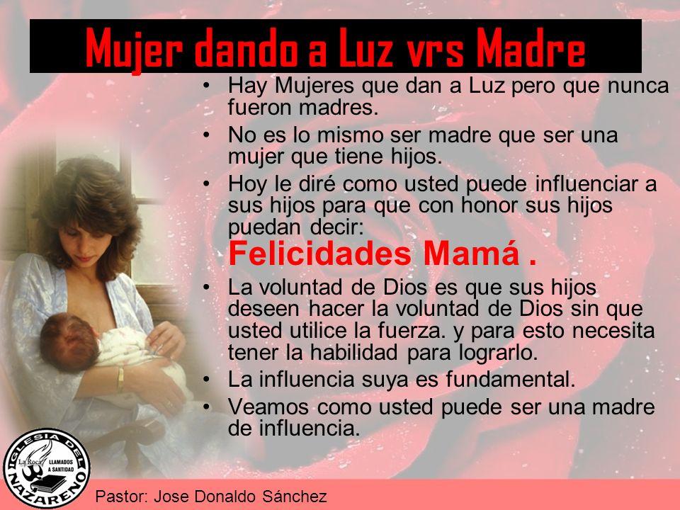 Mujer dando a Luz vrs Madre