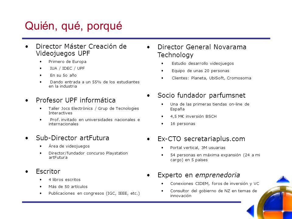 Quién, qué, porqué Director Máster Creación de Videojuegos UPF