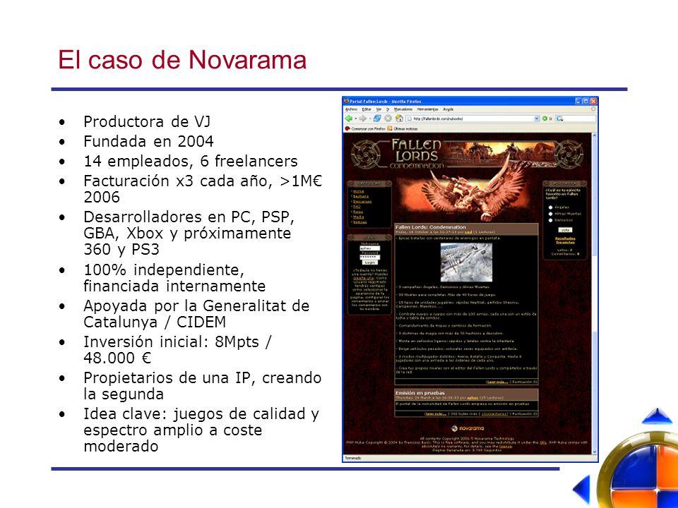 El caso de Novarama Productora de VJ Fundada en 2004