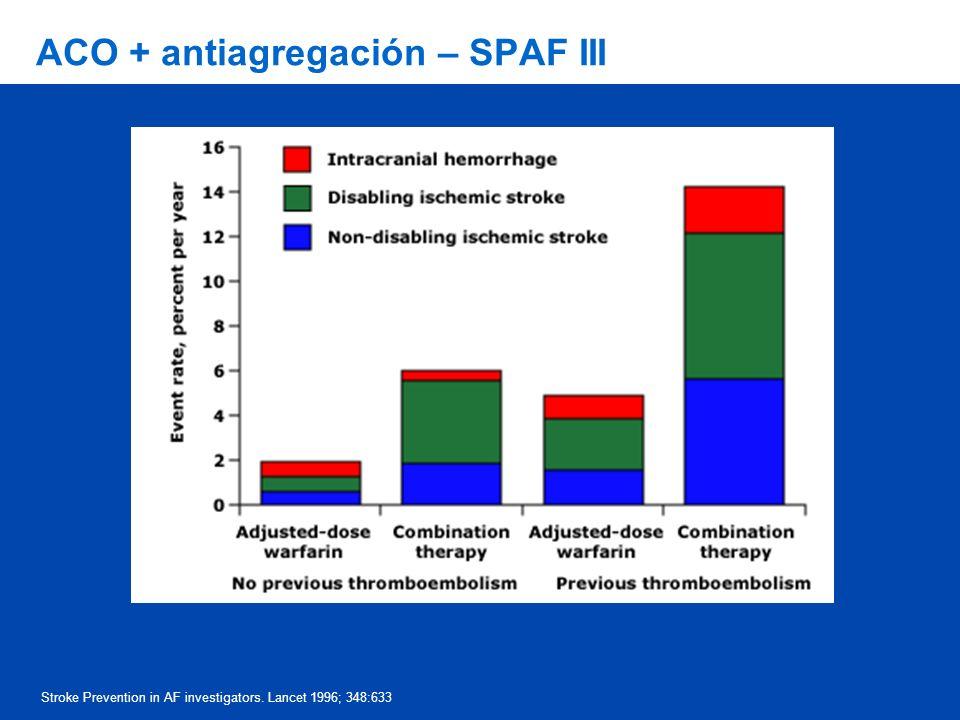 ACO + antiagregación – SPAF III