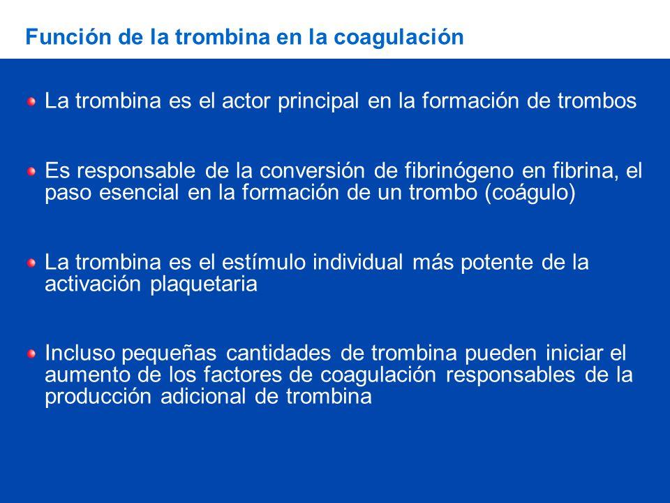 Función de la trombina en la coagulación
