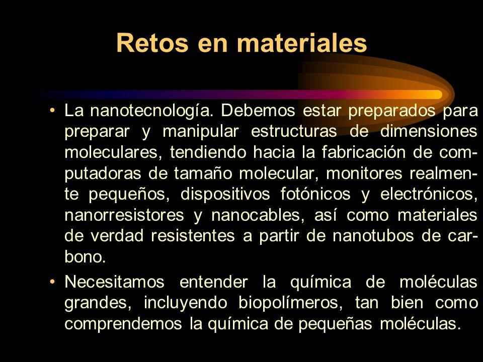 Retos en materiales