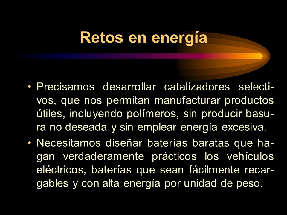 Retos en energía