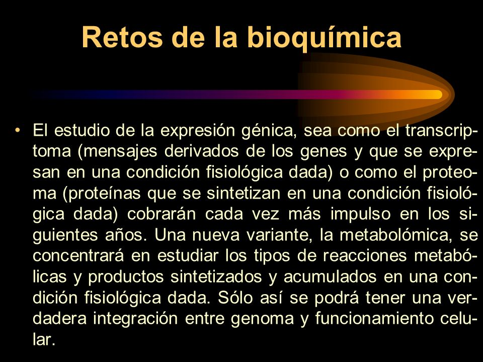 Retos de la bioquímica