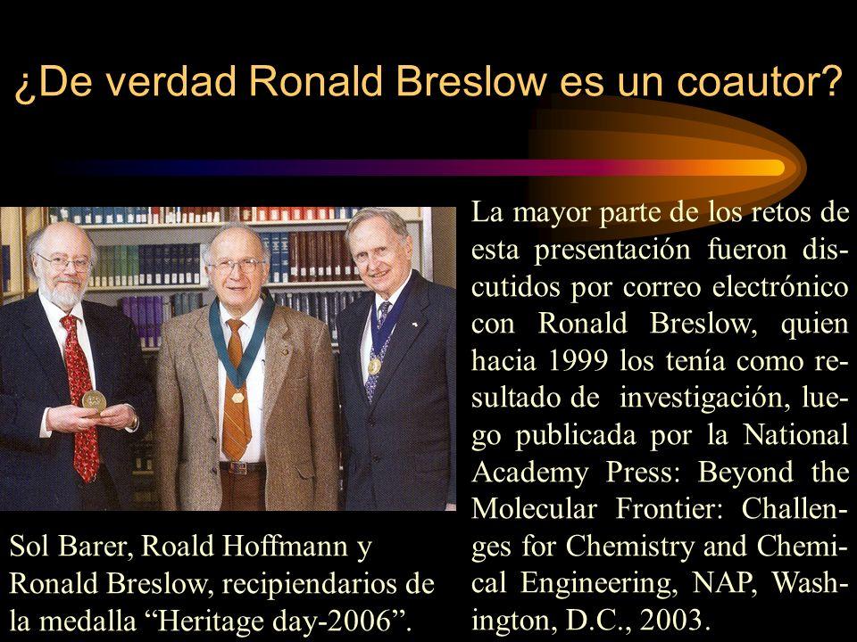 ¿De verdad Ronald Breslow es un coautor