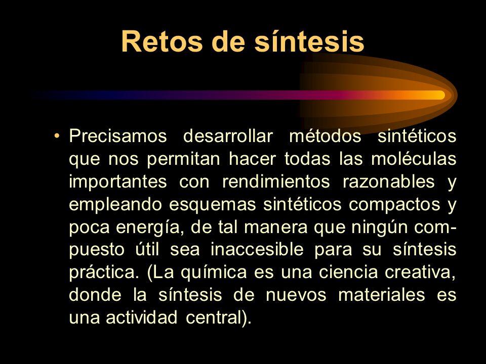 Retos de síntesis