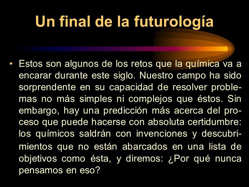 Un final de la futurología