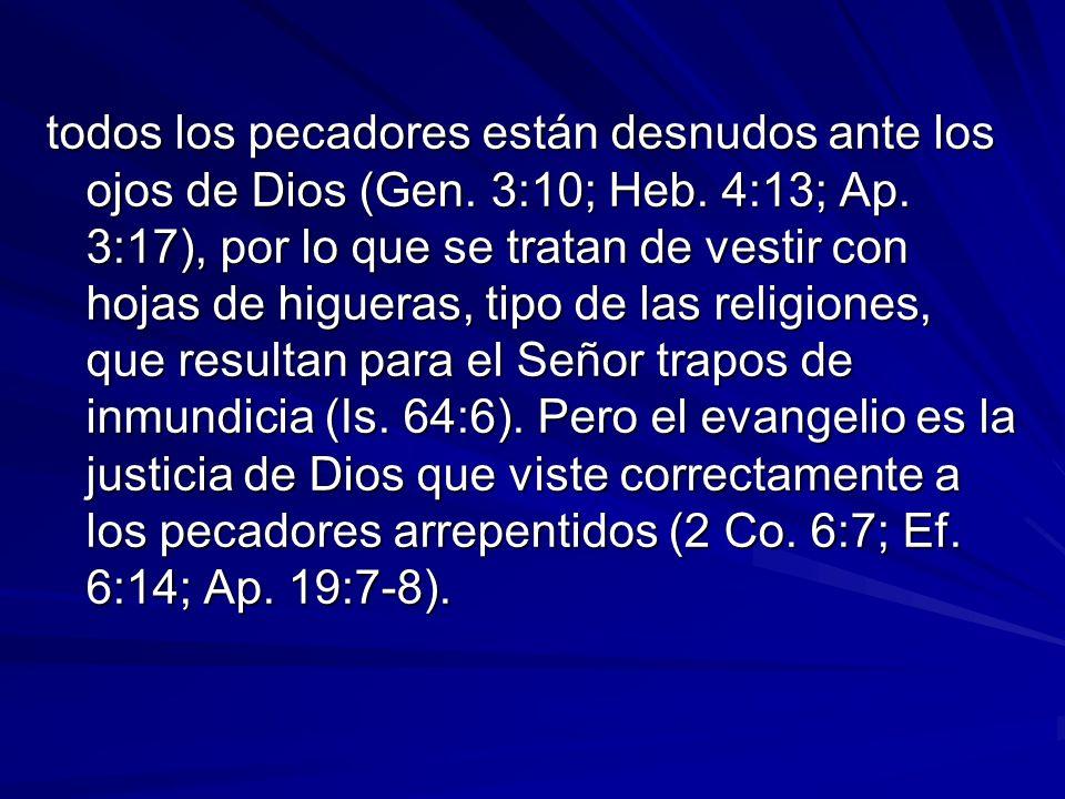 todos los pecadores están desnudos ante los ojos de Dios (Gen