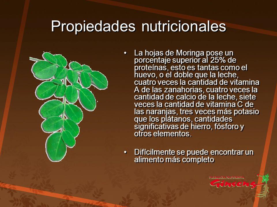 Propiedades nutricionales