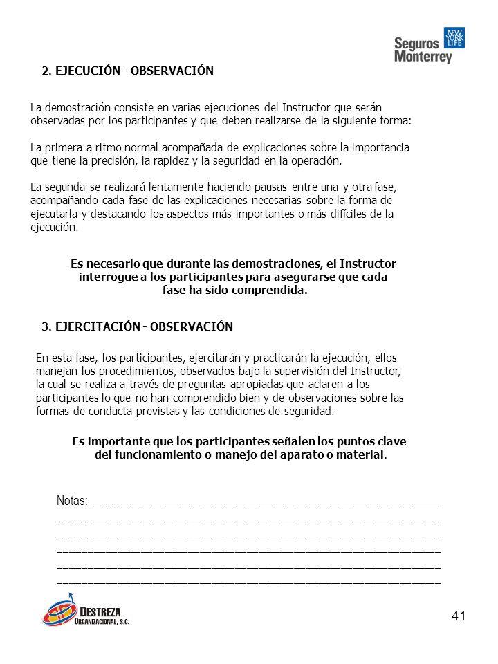 2. EJECUCIÓN - OBSERVACIÓN