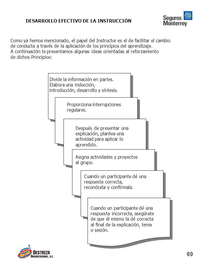 DESARROLLO EFECTIVO DE LA INSTRUCCIÓN