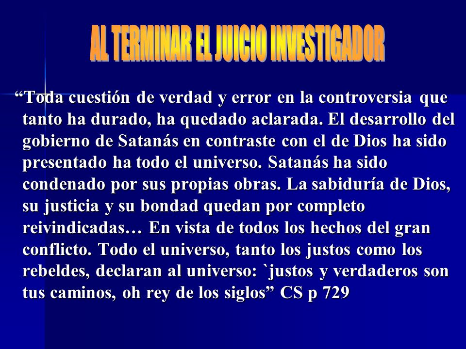 AL TERMINAR EL JUICIO INVESTIGADOR