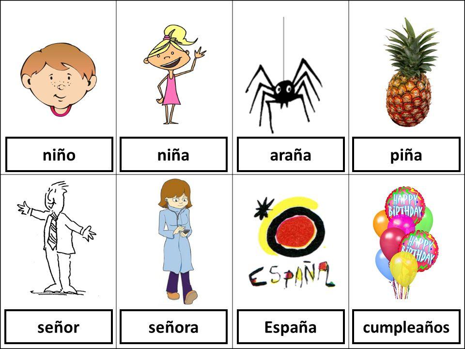 niño niña araña piña señor señora España