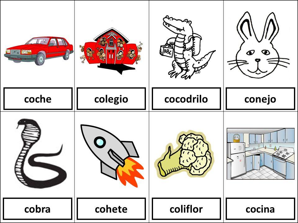 coche colegio cocodrilo conejo cobra cohete coliflor