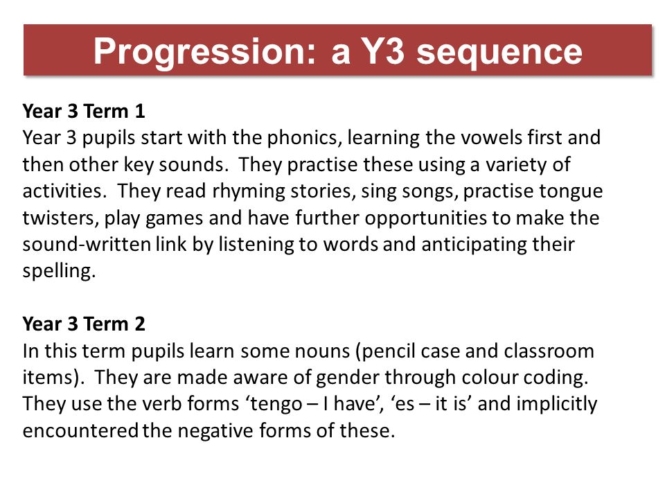 Progression: a Y3 sequence