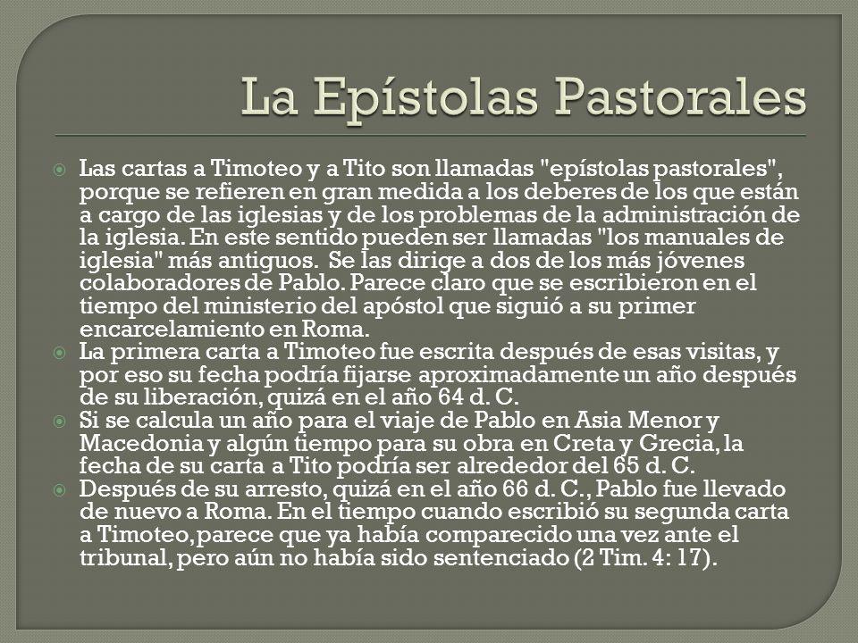 La Epístolas Pastorales